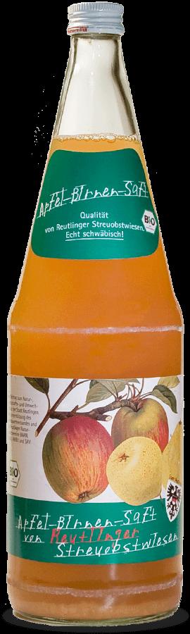 Bio-Apfel-Birnensaft von Reutlinger Streuobstwiesen